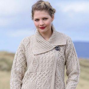 Inis Crafts 100% Merino Wool Ireland Bulky Sweater